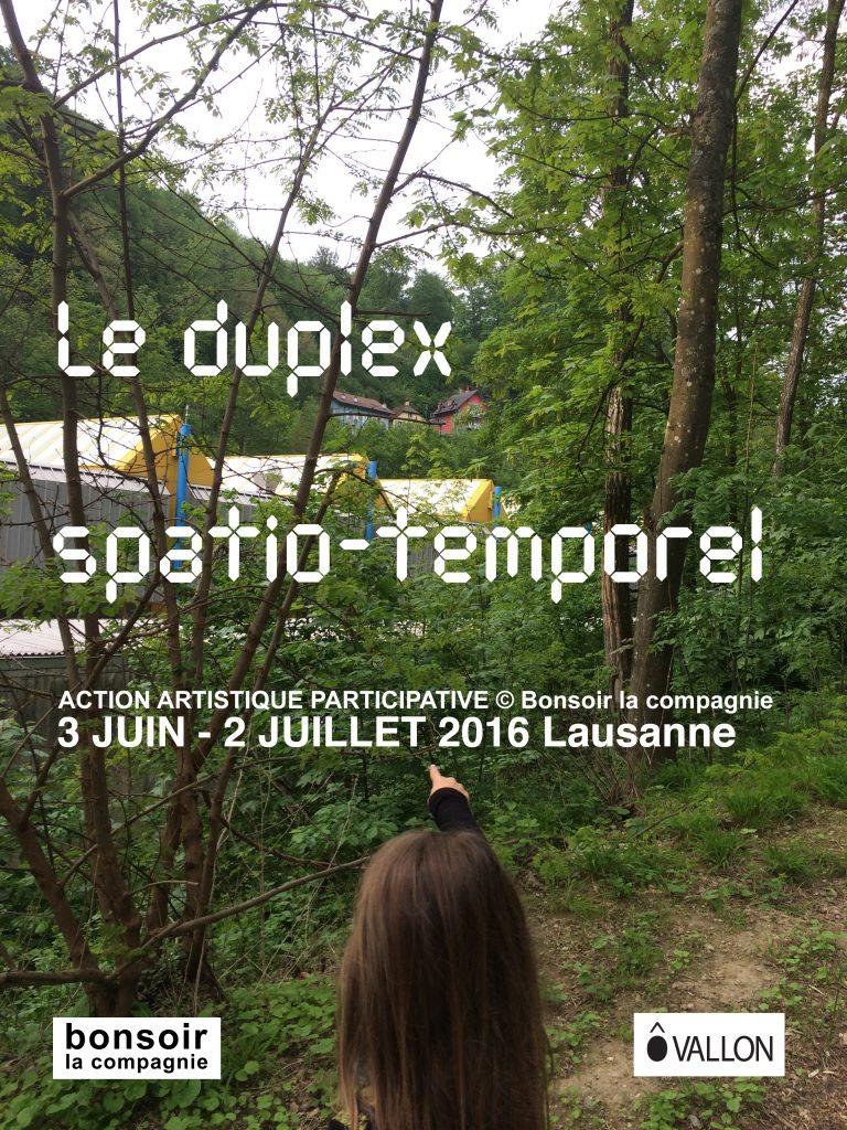 Le duplex spatio-temporel 2016, image Marie-Aude Guignard